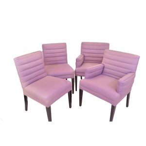 Set Of 4 Purple Chairs