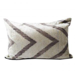 Purple/Ivory Chevron Pillow w/ Insert