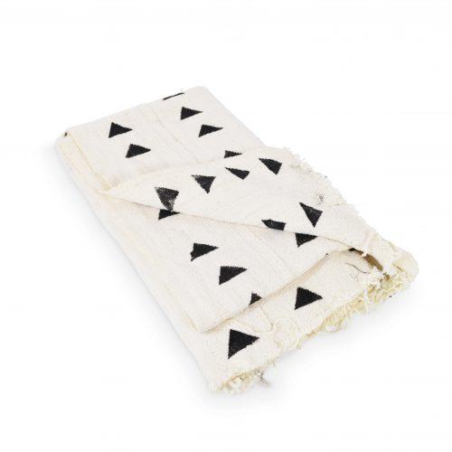 White Mud Cloth Blanket