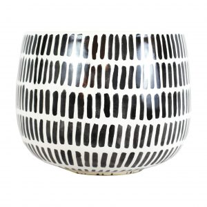 Black Stripe Pot Large
