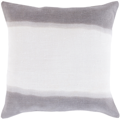 "Grey Double Dip 18"" Pillow"
