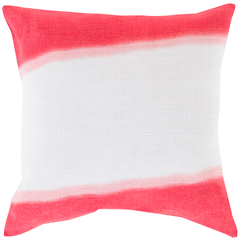 """Red Double Dip Pillow 18"""""""