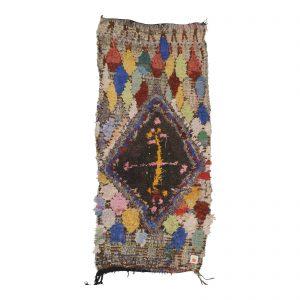 """Moroccan Boucherouite Rug 30""""x52"""""""