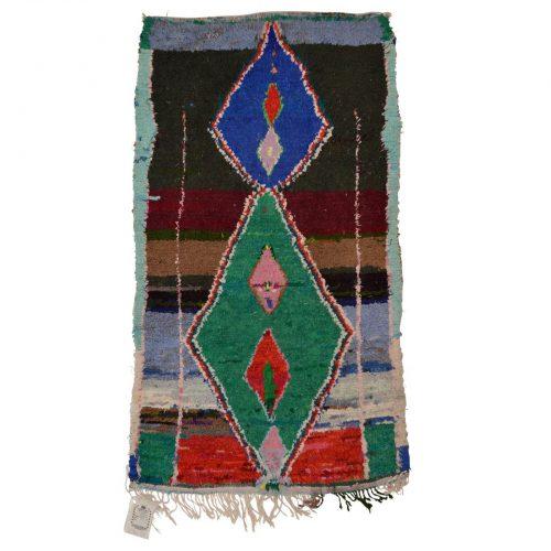 """Moroccan Boucherouite Rug 40""""x57"""""""