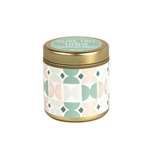 Olive Tree + Thyme Mini Tin Candle