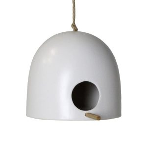 Short Ceramic Birdhouse