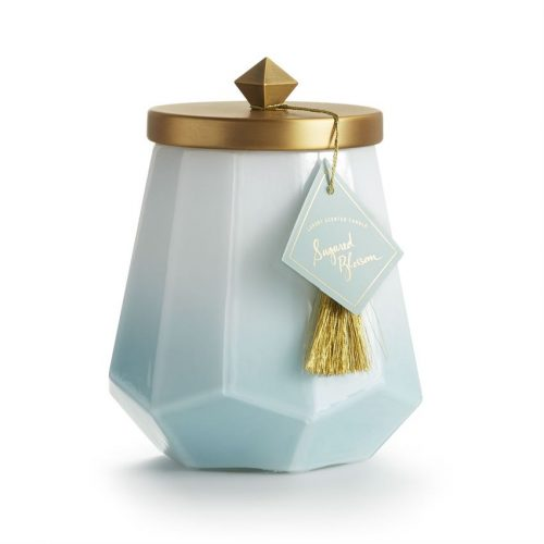 Sugared Blossom Geo Candle