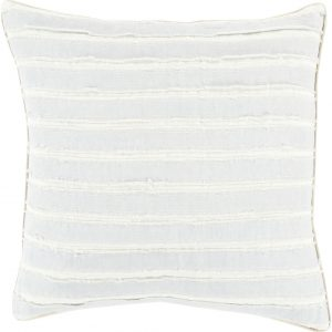 Light Blue & Cream Stripe Pillow with Insert