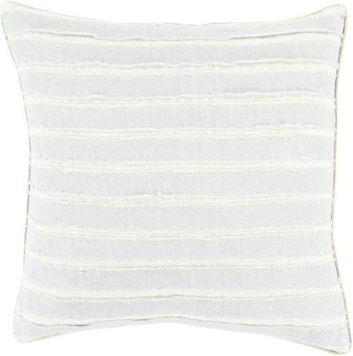Light Blue & Cream Stripe Pillow with Insert