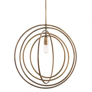 Gold Orbit Rings Pendant Light