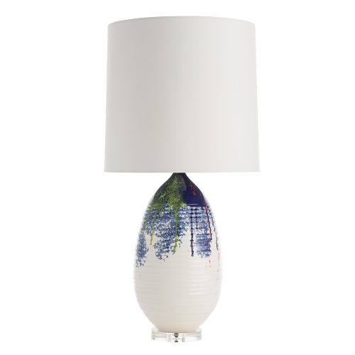 White Splash Glaze Lamp
