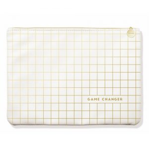 Game Changer Gold Grid Large Pouch