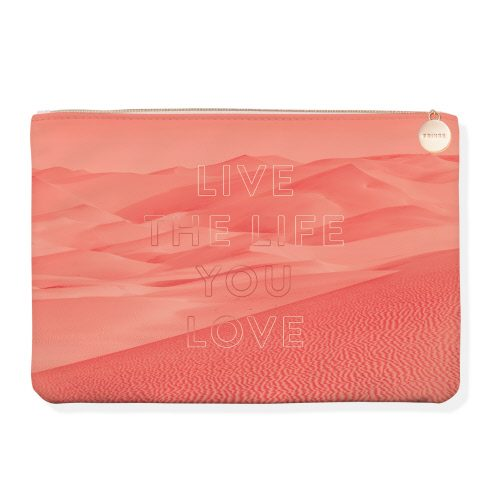 Live the Life You Love Coral Med Pouch