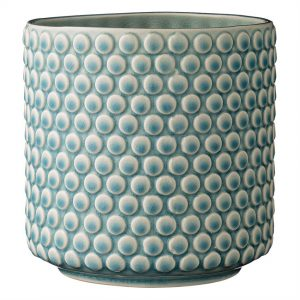 Blue Ceramic Flower Pot