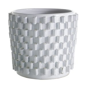 Round Planter w/ Rectangle Spikes Large