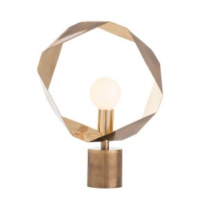 Gold Geometric Halo Lamp