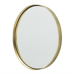 Round Mirror w/ Gold Band