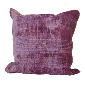 Over Dyed Rug Throw Pillow