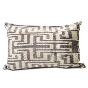 Purple/Ivory Greek Key-esque Pillow w/ Insert