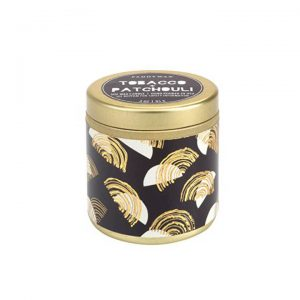 Tobacco + Patchouli Mini Tin Candle