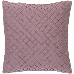 Mauve Lattuce Pillow W/ Insert