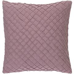 Mauve Lattuce Pillow W/ Insert